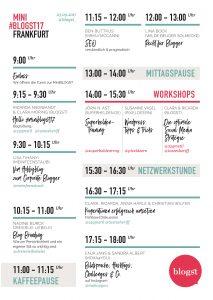 Stundenplan MiniBlogst Frankfurt 2017