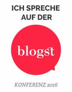 Ich spreche auf der Blogst 16