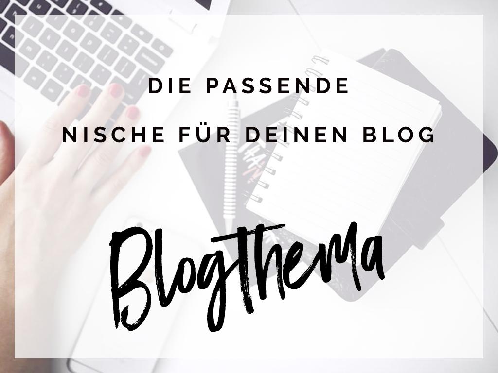Blogthema – die passende Nische für deinen Blog – Werbung
