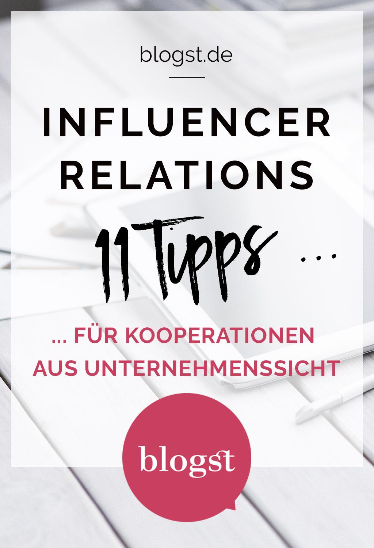 Influencer Relations : 11 Tipps für Kooperationen aus Unternehmenssicht