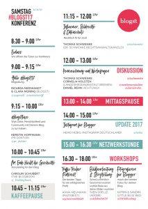 Stundenplan Blogst17 Samstag
