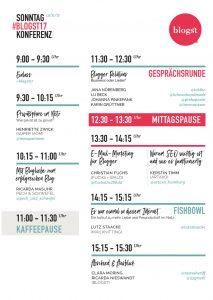 Stundenplan Blogst17 Sonntag